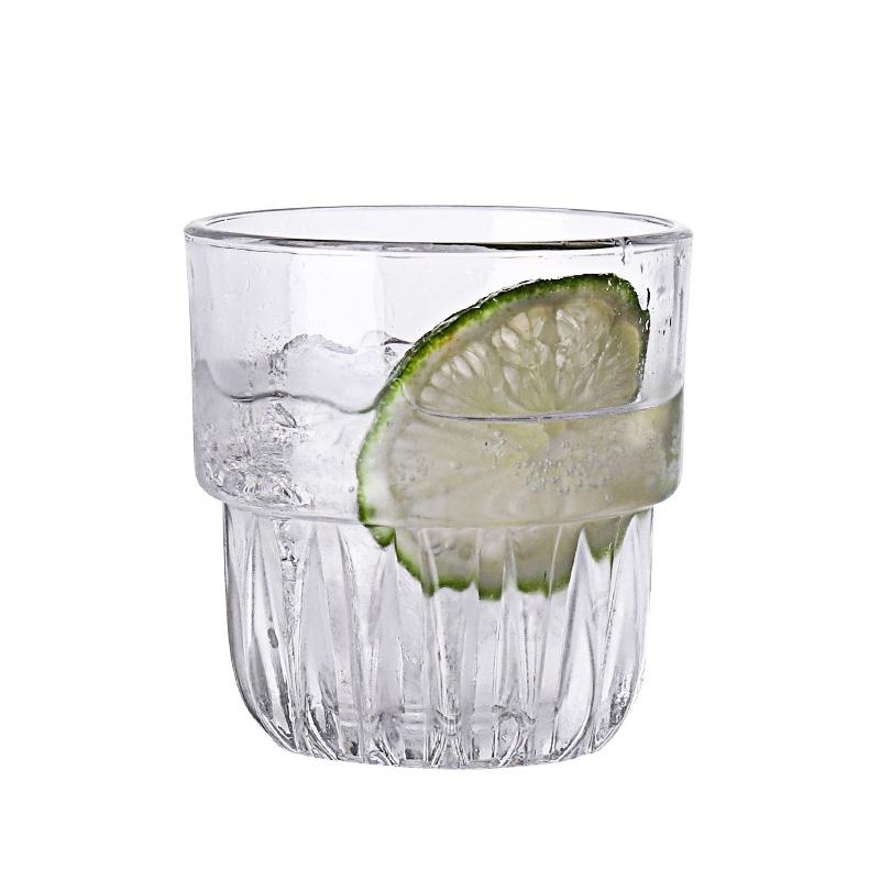 餐厅钢化玻璃杯 威士忌杯鸡尾酒杯 柠檬水杯冰咖啡杯 酒吧KTV杯子