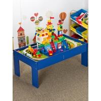 【益智玩具】托马斯木质小火车轨道�犯叽罂帕F床迤醋盎�木桌儿童男孩玩具