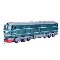 高铁东风4B内燃机绿皮火车轨道玩具电动火车模型拖玛撕小火车套装