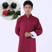 中式结婚礼服伴郎伴娘服唐装长衫长袍大褂民国古装相声兄弟团礼服