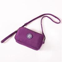 拉链零钱包手机女包斜挎包女帆布袋手机包 旅游 拉链钱包
