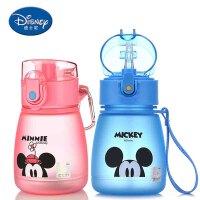 包邮 迪士尼双盖便携水杯 300ML夏季杯 随手杯子小学生塑料水杯双盖儿童水瓶