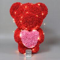 永生花礼盒巨型红玫瑰花小熊七夕情人节生日求婚礼物diy送女朋友