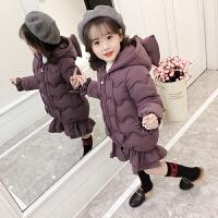 女童棉衣2018新款冬装儿童装棉袄中长款宝宝羽绒冬季洋气外套