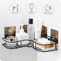 【新品优选】免打孔转角置物架卫生间洗漱架厕所浴室无痕壁挂收纳架厨房三角架 一个装