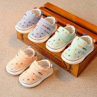 1-3岁女小童幼儿单鞋春秋婴儿软底学步鞋男宝宝布鞋子