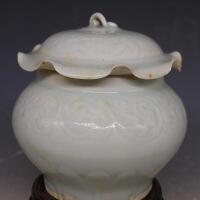 青釉荷叶盖罐茶叶罐 古董古玩仿古瓷器 收藏摆件老货旧货 默认款式