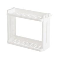厨房双层置物架调味料收纳架 落地塑料沥水架带刀架调料架