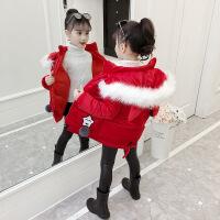 女童棉衣外套儿童冬装新款金丝绒棉袄宝宝洋气保暖加厚潮 图片色