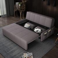 【品牌特惠】北欧沙发床多功能可折叠客厅双人小户型推拉储物收纳两用布艺 1.5米-1.8米
