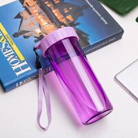 塑料水杯便携杯子学生韩版订制logo礼品杯印字刻字广告杯定制