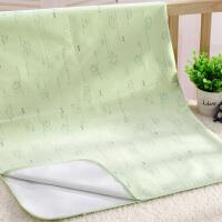 婴儿隔尿垫防水可洗儿童宝宝超大号防漏垫新生儿尿不湿床垫姨妈垫 绿色 74x98cm 大号