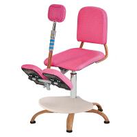 儿童学习椅子中小学生椅可升降椅靠背电脑椅矫姿椅跪椅书桌写字椅 升级环保脚踏款 粉色