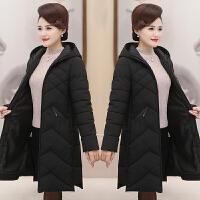 妈妈冬装棉衣中长款40-50岁中老年女中年冬季加厚棉袄新款