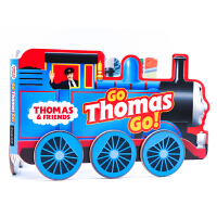 托马斯小火车造型书Thomas and Friends Go Thomas, Go!英文原版绘本 儿童早教益智 低幼英语