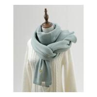 菠萝毛线围巾女冬季加厚纯色双面保暖披肩小清新学生韩版针织围脖