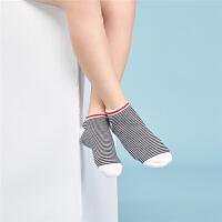 [2件5折到手价12.5]3双装都市丽人都市贝比儿童袜子夏季男童船袜3-5-7-9-12岁宝宝男孩中大童春秋棉袜大码袜