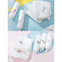 婴儿洗脸巾儿童用品婴儿口水巾宝宝纱布毛巾棉洗澡小方巾