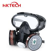 防毒面罩喷漆防甲醛化工农药消防防毒防尘口罩连体式面罩防毒面具