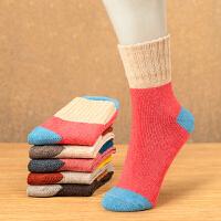 冬天加厚保暖女士袜子女装厚毛袜民族风特厚羊毛袜加绒毛巾袜