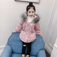女童棉衣冬装2018新款韩版童装儿童棉袄冬季外套中长款加厚棉服冬