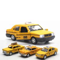 出租车玩具 出租车回力车惯性合金小汽车玩具车男孩儿童玩具车模型仿真的士
