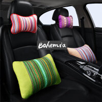 汽车头枕护颈枕颈椎枕波西米亚靠枕车用枕头夏季靠枕民族风