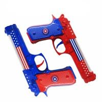 1-2-3岁小孩迷你投影电动枪声光男孩塑料耐摔儿童警察宝宝玩具枪 9011队长小(颜色随机) 送电池
