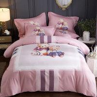 加厚磨毛四件套全棉纯棉床单被套秋冬季1.5米1.8m床上用品定制
