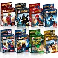 英雄复仇者联盟小人钢铁侠人仔拼装兼容乐高积木人偶玩具