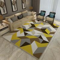 地毯客厅简约现代ins北欧风格几何卧室床边垫沙发茶几地毯家用懒人复古图案爬行浴室家用简欧正方形吸水 200CM x 3