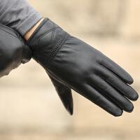 皮手套男士韩版冬季防风保暖骑行羊皮手套加绒加厚开车皮手套