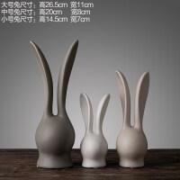 电视柜摆件 现代简约欧式 北欧家居装饰品客厅兔子摆件 软装饰品抖音 北欧兔