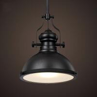 loft美式乡村个性创意客厅餐厅咖啡厅酒吧吊灯重金属工业风吊灯 黑色