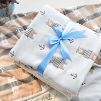 婴儿纯棉纱布浴巾宝宝新生儿方形毛巾被春秋冬大盖毯空调毯x定制