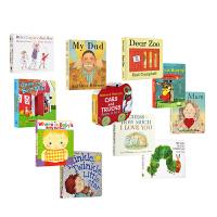 英文原版绘本0 3岁 国外经典 The Very Hungry Caterpillar Brown Bear dear zoo My Mum my Dad 10册纸板书 儿童英语启蒙 幼儿畅销进口图书