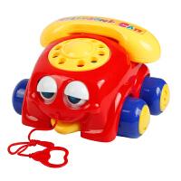 儿童拉线拖拉玩具电话拉绳手拉车宝宝婴儿学步拉着走的玩具拉拉车