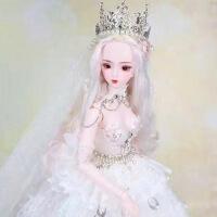 【2件5折】芭比娃娃 新年礼物 精品 德必胜娃娃梦童话系列60cm 26关节3分娃仿真玩具女孩公主礼物bjd换装 安吉