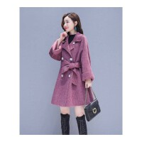 毛呢外套女秋冬新款韩版气质斗篷超大码宽松显瘦学生呢子大衣