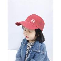 男女童帽子复古潮儿童鸭舌帽春夏季宝宝棒球帽遮阳帽