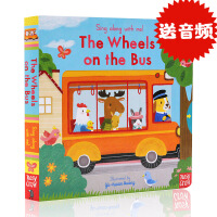 巴士上的轮子英文原版The Wheels on the Bus绘本 Sing Along with Me 童谣纸板机关