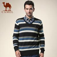 CAMEL 骆驼男装 新品 秋新款青年休闲羊毛衫 青春流行男士长袖毛衣