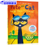 皮特猫英文原版绘本 Pete the Cat and His Magic Sunglasses 反正就是很开心 吴敏兰