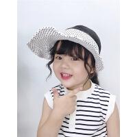 女童简约百搭无顶帽宝宝太阳帽夏季儿童大檐遮阳空顶帽
