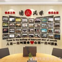 201907020649581102019新品 员工风采照片墙办公室装饰亚克力相框企业背景墙壁贴画公司文化墙 超