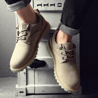 马丁靴男秋季英伦低帮短靴子军靴增高男士休闲大头皮鞋复古工装鞋