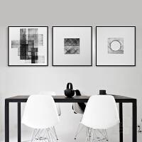 现代客厅黑白三联画装饰画简约床头玄关挂画工作室素描艺术画书房