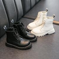 女童马丁靴2020年秋冬季英伦风单靴儿童中大童短靴男孩二棉鞋