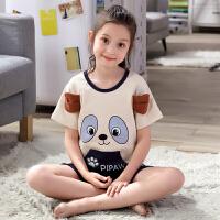 中大童空调服家居服宝宝内衣童装夏季短袖儿童睡衣女童棉套装