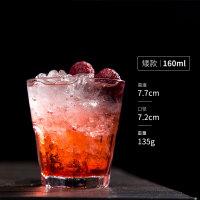 直布罗陀杯 玻璃水杯八角杯柯林杯啤酒杯威士忌杯 奶茶牛奶果汁杯 矮款(小号)-160ml/6 oz